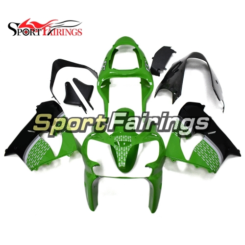 Full Fairing Kit Fit For Kawasaki ZX9R 2000 - 2001 - Gloss Green Black