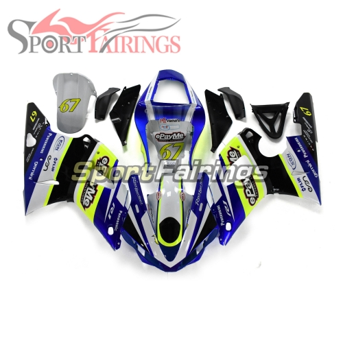 Fairing Kit Fit For Yamaha YZF R1 2000 2001 - White Blue Neon Yellow