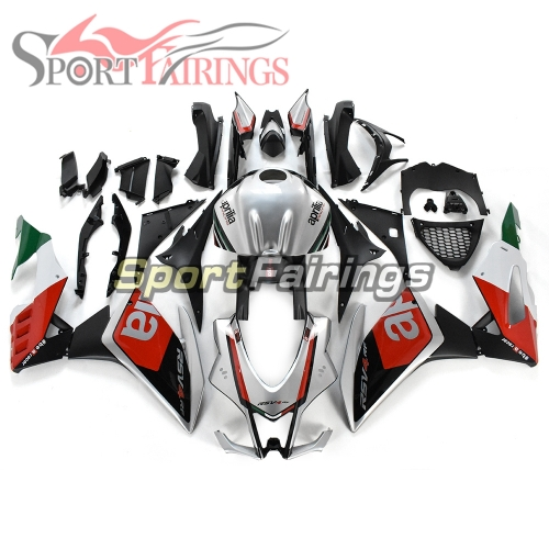 Full Fairing Kit Fit For Aprilia RSV4 1000 2016 - 2018 - Red Silver Matte Black
