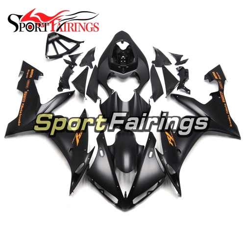 Fairing Kit Fit For Yamaha YZF R1 2004 - 2006 - Matte Black with Orange Sticker