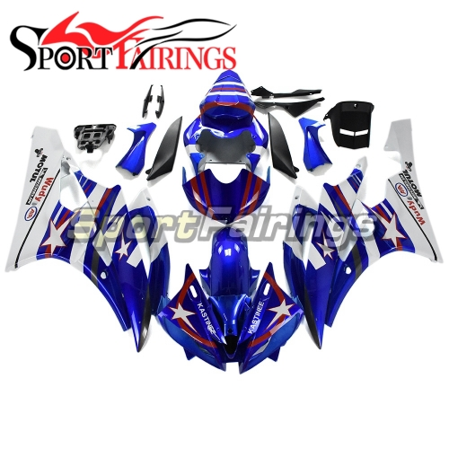 Fairing Kit Fit For Yamaha YZF R6 2006 2007 -White Red Blue