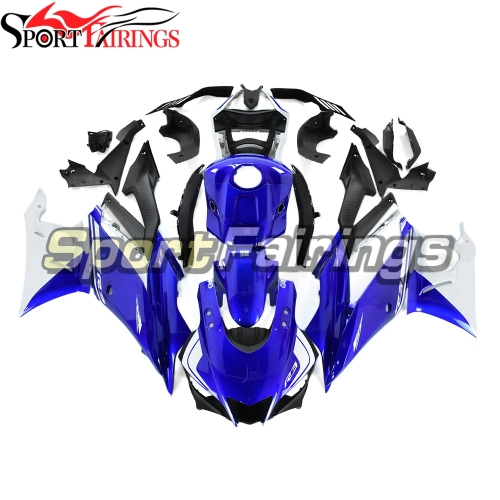 Fairing Kit Fit For Yamaha YZF R25 R3 2019 - 2020 - White Blue